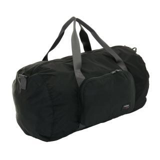 【YESON】商旅輕遊可摺疊式大容量手提斜背旅行袋(黑)