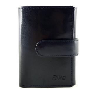 【Sika】義大利時尚真皮三折小皮夾A8280-06(清玉藍)