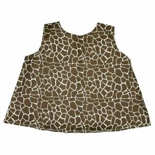 【Ruffle Butts】小女童甜美裙擺衣-粉紅長頸鹿紋