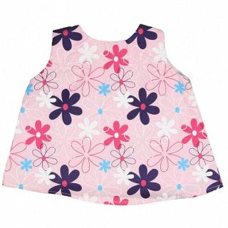 【Ruffle Butts】小女童甜美裙擺衣-粉色跳躍小雛菊 #STWDD