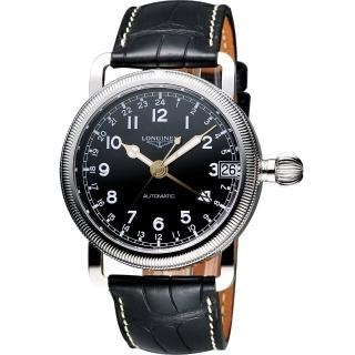 【LONGINES】Heritage Military 1938軍用24小時機械腕錶(L27784532)