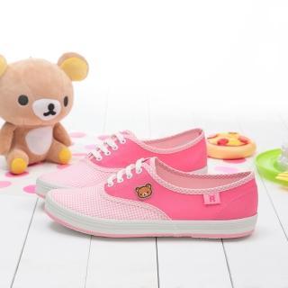 【童鞋城堡】拉拉熊懶懶熊帆布休閒鞋(KM8239)