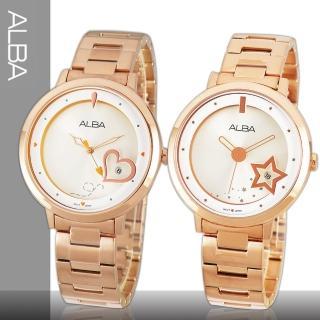 【SEIKO 精工 ALBA】優雅玫瑰金指針女錶(AG8364X1-AG8366X1)