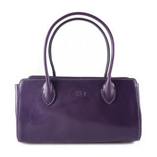 【Sika】義大利時尚真皮雙帶小提包M6037-07(木槿紫)