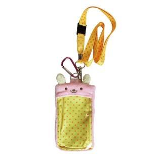 【UNIQUE】動物樂園毛絨手機背袋(粉紅兔)