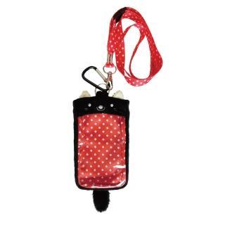 【UNIQUE】動物樂園毛絨手機背袋(小黑貓)