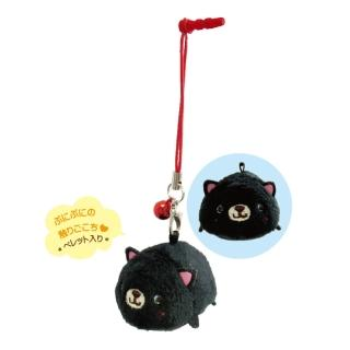 【UNIQUE】動物樂園掌心沙包公仔螢幕擦(小黑貓)