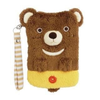 【UNIQUE】動物樂園毛絨手機提袋(小棕熊)