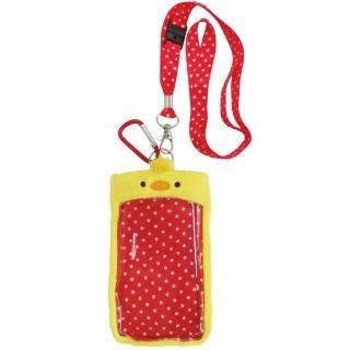 【UNIQUE】動物樂園毛絨手機背袋(小鴨)