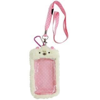 【UNIQUE】動物樂園毛絨手機背袋(小綿羊)