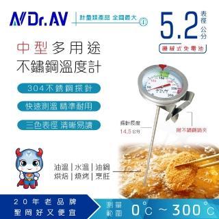 【Dr.AV】多用途不鏽鋼 溫度計(GE-315D)