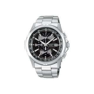【WIRED】極限玩家三眼計時腕錶-黑(7T82-X002D)