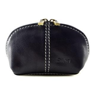 【Sika】義大利時尚真皮復古小巧拉鍊零錢包A8259-06(清玉藍)