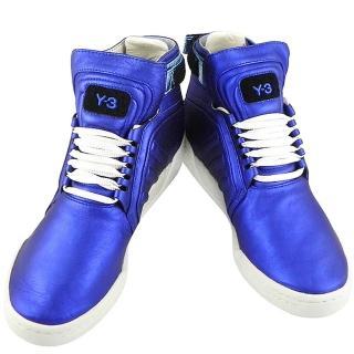 【Y-3山本耀司】真皮中筒造型靴-US 7.5號(亮藍色)