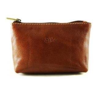 【Sika】義大利時尚真皮拉鍊零錢包A8228-01(原味褐)