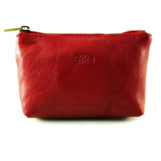 【Sika】義大利時尚真皮拉鍊零錢包A8228-04(魅惑紅)