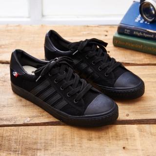 【中國強】MIT 經典休閒帆布鞋CH89(黑色)