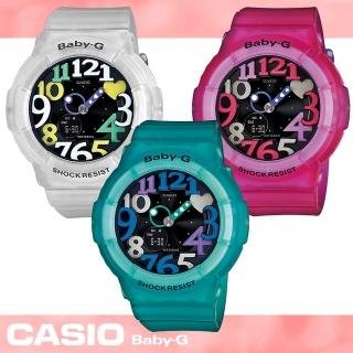【CASIO 卡西歐 Baby-G 系列】夏季潮流霓虹多彩流行女錶(BGA-131 果凍色)
