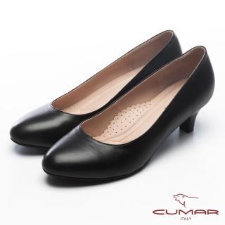 【CUMAR】無敵百搭‧OL必備零出錯安全款高跟鞋(黑色)