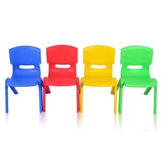 【WASHAMl】韓式多彩可堆疊便利椅/一體成型(四入)