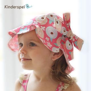 【Kinderspel】抗UV?防曬遮陽童帽(粉紅棒棒糖)