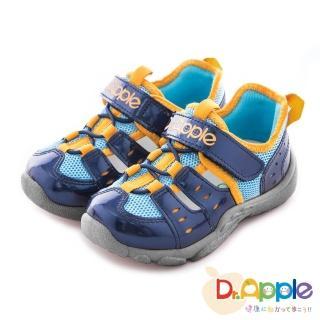 【Dr. Apple 機能童鞋】俐落大人風舒適透氣童鞋(藍)