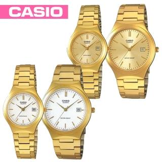 【CASIO 卡西歐】金色甜蜜愛戀情人對錶(MTP-1170N+LTP-1170N)