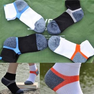 【OEC-Life】除臭運動襪-銀纖維抑菌吸濕排汗除臭機能襪(黑灰/黑藍/白橘/白藍*2)