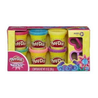 【培樂多Play-Doh】創意DIY黏土/閃亮黏土六色黏土組 A5417