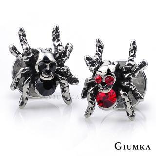 【GIUMKA個性潮男】骷髏頭蜘蛛德國精鋼鋯石栓扣式耳環 個性潮男款 單邊單個價格 MF04045(任選一款)