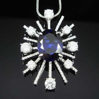 【Celosa珠寶】-燦星藍寶墜鍊