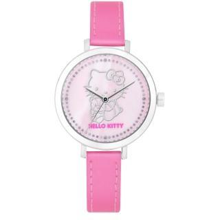 【Hello Kitty】甜美懷舊經典40週年晶鑽腕錶-粉(LK402LWPP)
