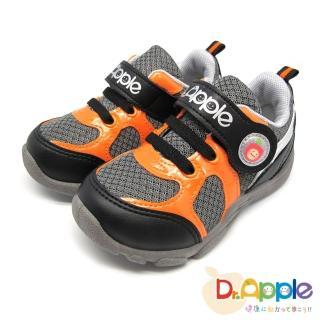 【Dr. Apple 機能童鞋】酷玩亮眼運動風童鞋(黑)