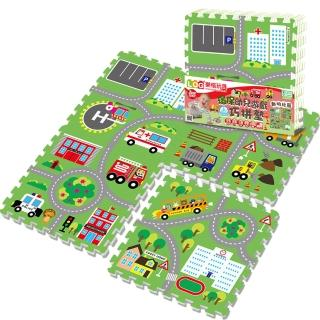 【LOG 樂格】環保幼兒遊戲巧拼墊 - 動物社區(60X60cmX厚2cmX4片)