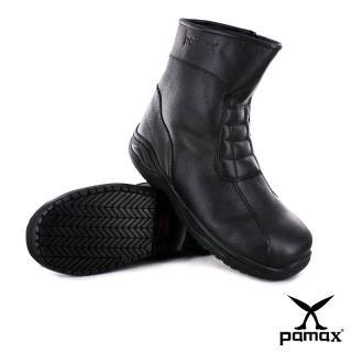 【帕瑪斯安全鞋】長筒皮革拉鍊型氣墊安全鞋(P01001H黑 /男尺寸)