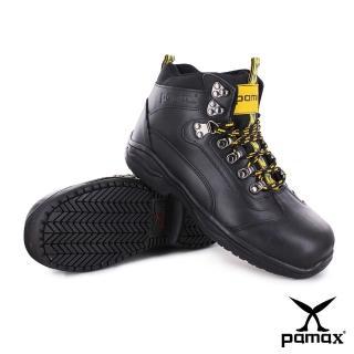 【帕瑪斯安全鞋】高筒休閒型氣墊安全鞋、採銀纖維抑菌除臭工作鋼頭鞋^(P00301H黑 男尺