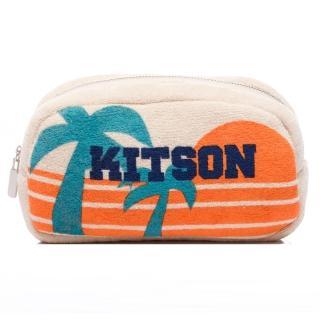 【Kitson】輕柔毛巾布化妝包(BEIGE)