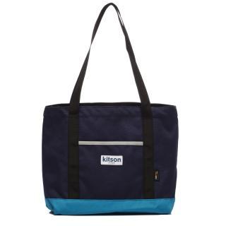 【Kitson】Outdoor 色塊拼接托特包(BLUE)