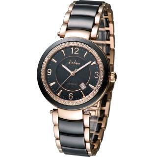 【Diadem 黛亞登】夏日限定時尚陶瓷腕錶(8D1407-511RGD-D)