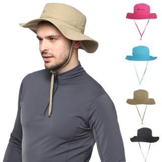 【PUSH! 戶外登山休閒用品】透氣快乾UPF50+遮陽帽沙灘帽子漁夫帽(男女適用)