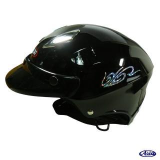 【ASIA】A609 四合扣款式 摩登安全帽(亮黑)