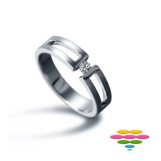 【彩糖鑽工坊】PURE系列 鑽石男戒指(雙色款CL-RE31)
