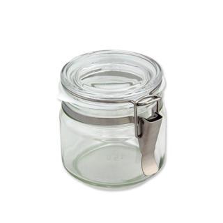 【ADERIA】日本進口抗菌密封扣環保存玻璃罐500ml