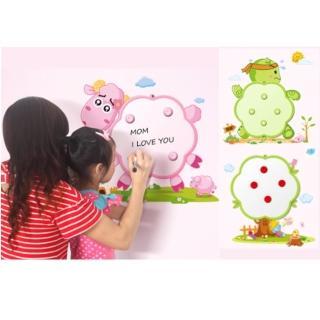 【拯救你家白刷刷牆壁】超萌!多功能壁貼磁性畫板(有3款)