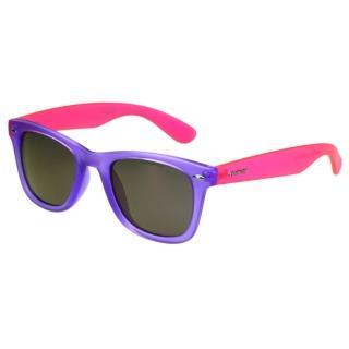 【Polaroid 寶麗萊】-偏光太陽眼鏡(紫色+反光鏡片)