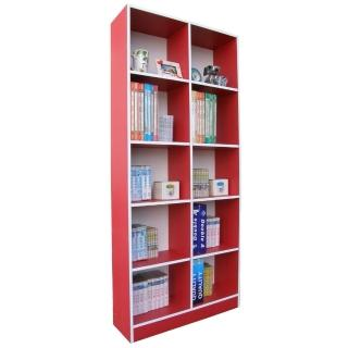 【美佳居】高180公分-10格(挑高格)公文櫃-書櫃(三色可選)