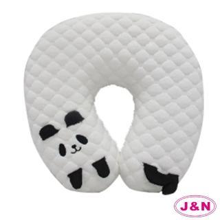 【J&N】熊貓造型U型頸枕(1入)