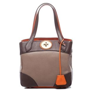 【A.D.M.J.】DOUBLE COLOR VERA-TOTE(TAUPE)