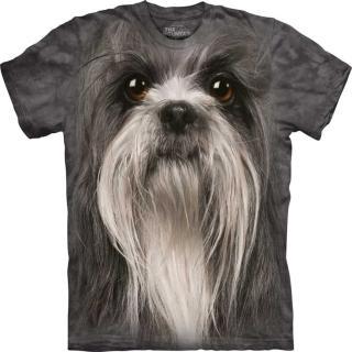 【摩達客】美國進口The Mountain 獅子狗犬臉 設計T恤(現貨)
