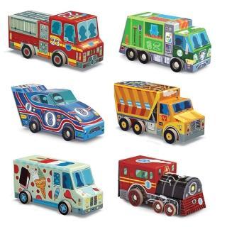 【美國Crocodile Creek】汽車造型盒拼圖系列(新春玩具節大推薦)